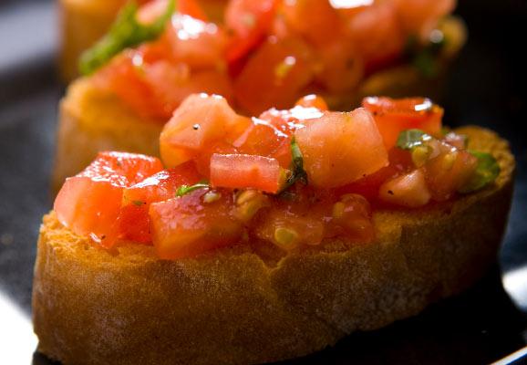 pan tostada con tomate